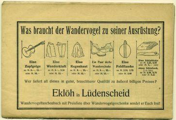 """""""Qué necesita el Wandevogel en su equipamiento?"""" Publicidad."""